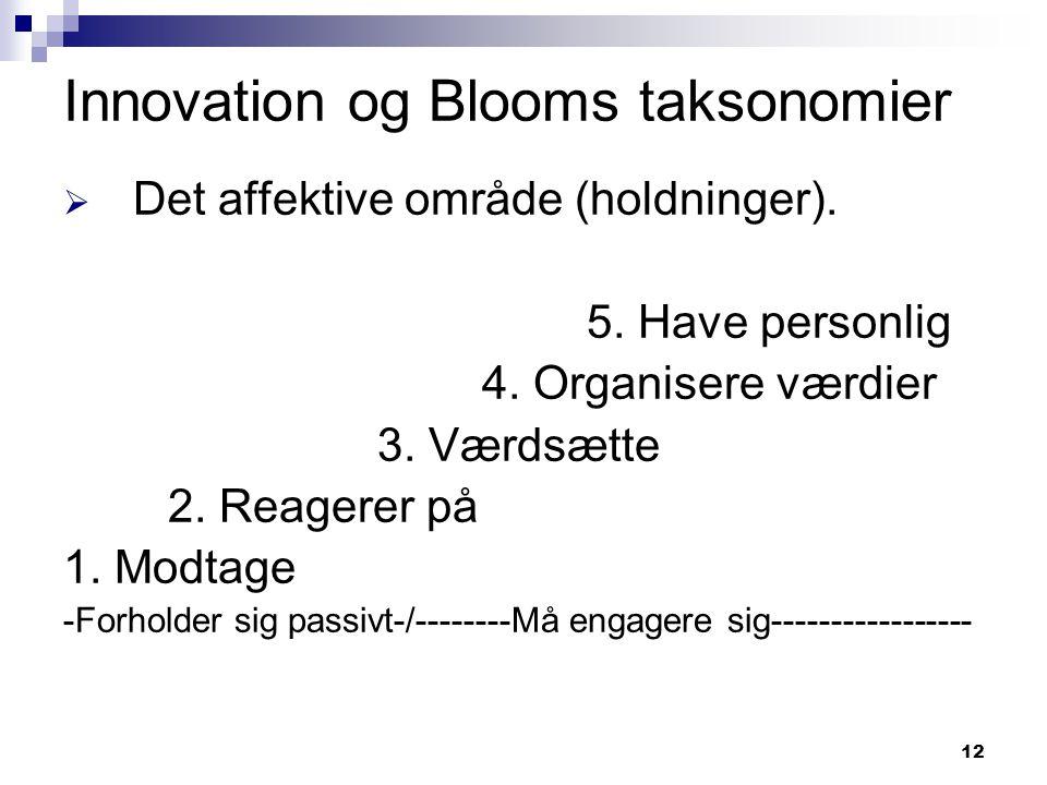 Innovation og Blooms taksonomier