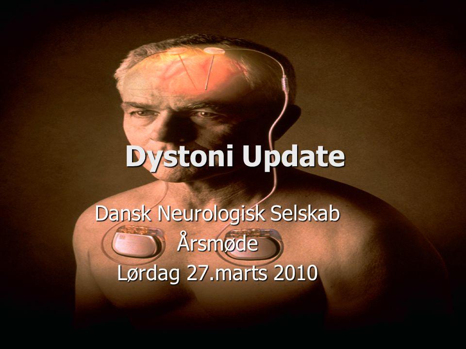 Dansk Neurologisk Selskab Årsmøde Lørdag 27.marts 2010