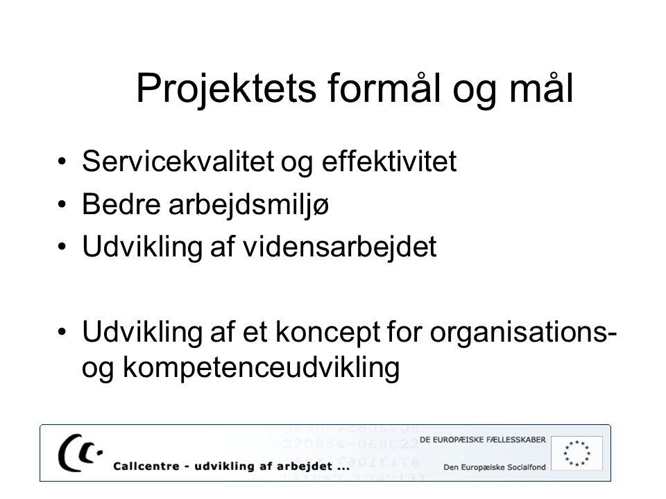 Projektets formål og mål