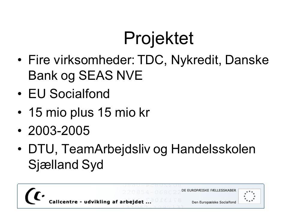 Projektet Fire virksomheder: TDC, Nykredit, Danske Bank og SEAS NVE
