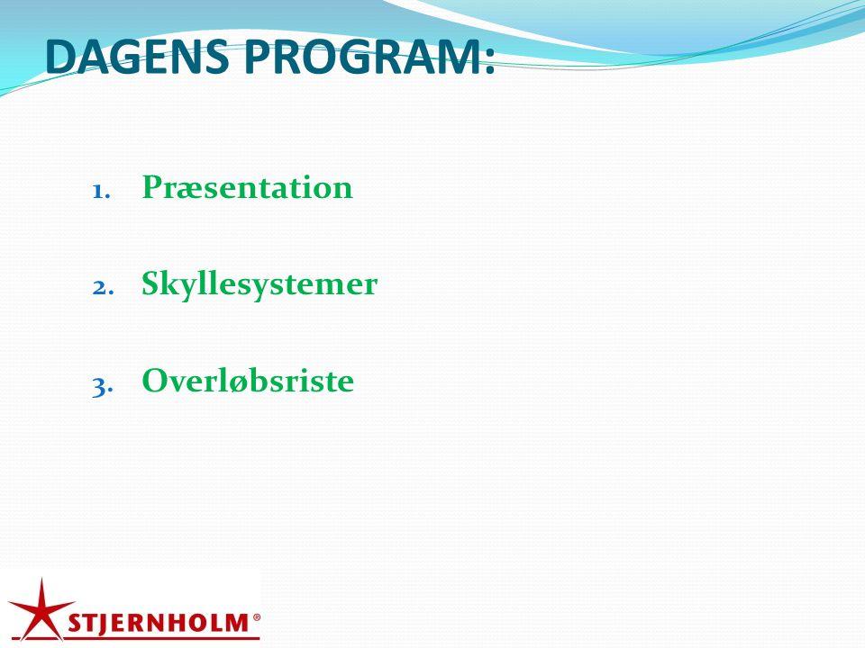 DAGENS PROGRAM: Præsentation Skyllesystemer Overløbsriste