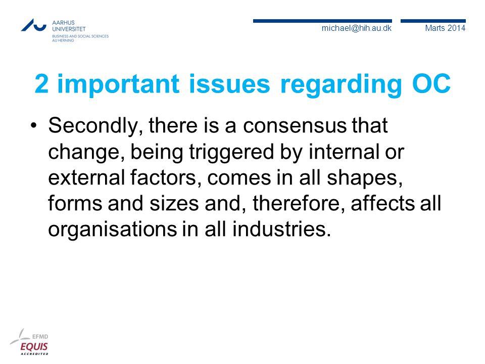2 important issues regarding OC