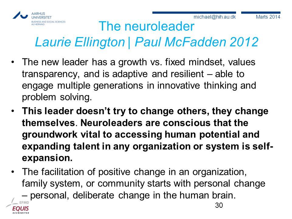 The neuroleader Laurie Ellington | Paul McFadden 2012