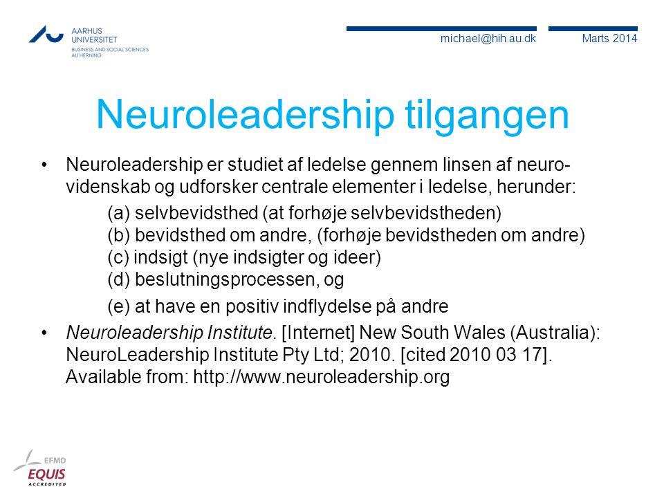 Neuroleadership tilgangen