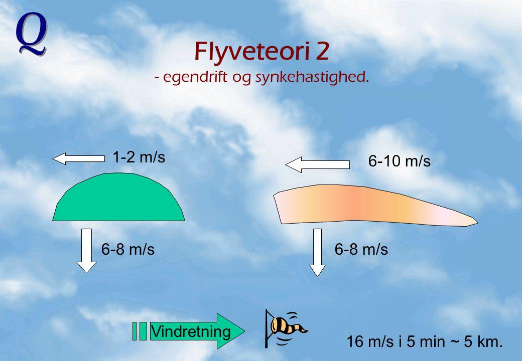Flyveteori 2 - egendrift og synkehastighed.