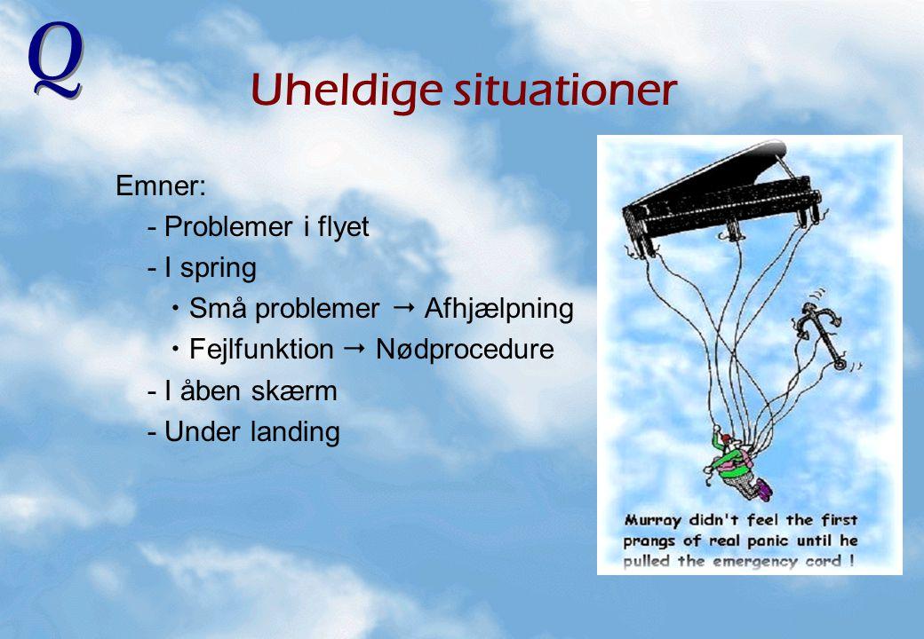 Uheldige situationer Emner: - Problemer i flyet - I spring