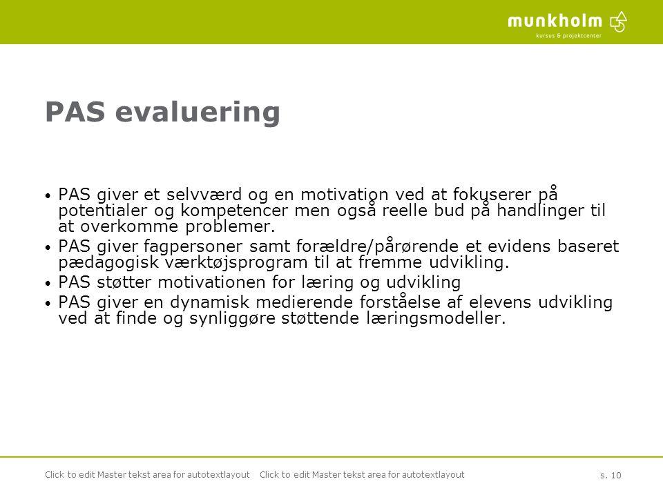 PAS evaluering