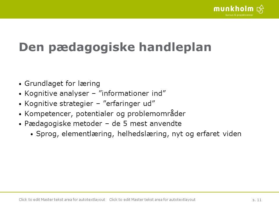Den pædagogiske handleplan