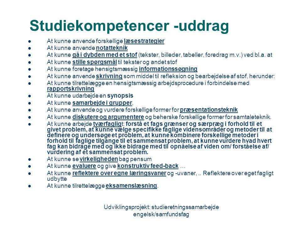 Studiekompetencer -uddrag