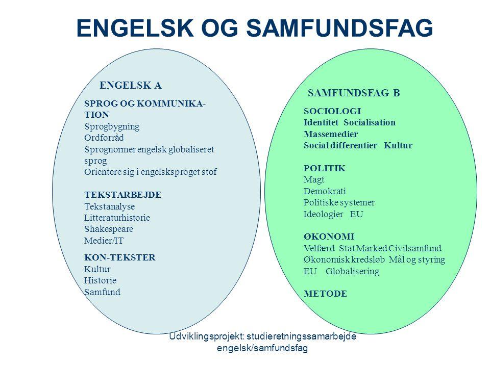 ENGELSK OG SAMFUNDSFAG