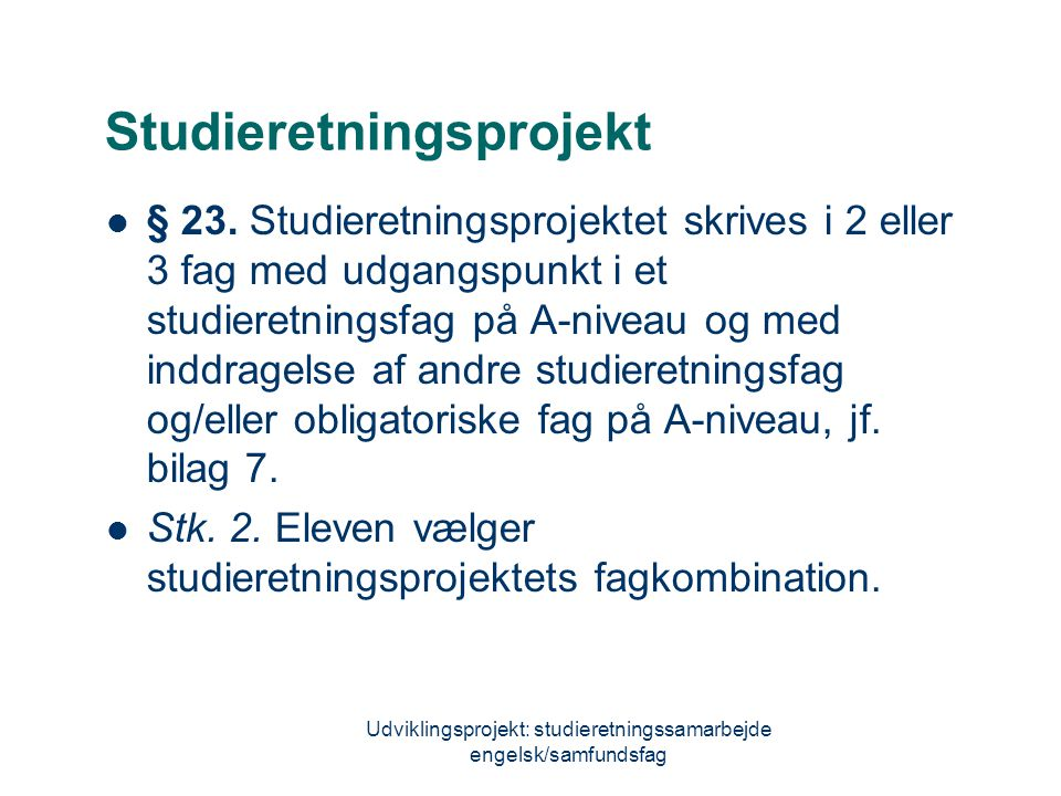 Studieretningsprojekt
