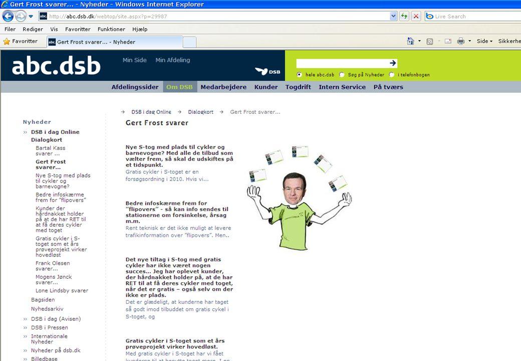Hvad gør vi i DSB Etableret Intern Kommunikation