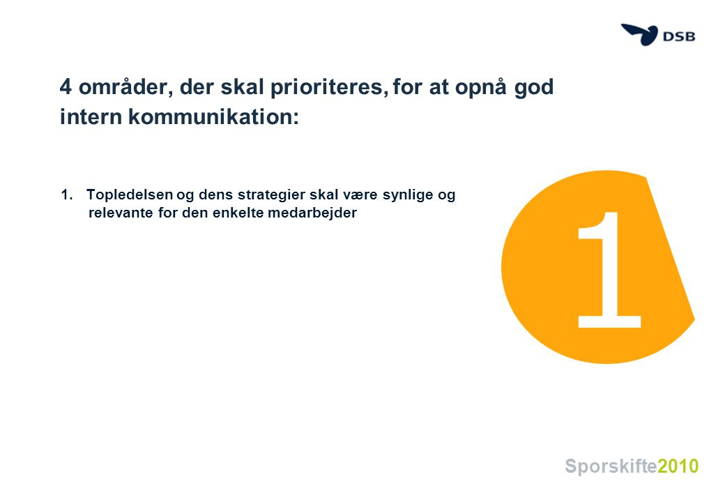 4 områder, der skal prioriteres, for at opnå god intern kommunikation: