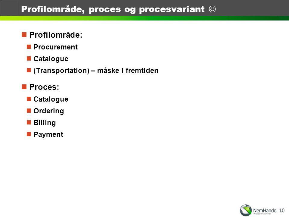 Profilområde, proces og procesvariant 