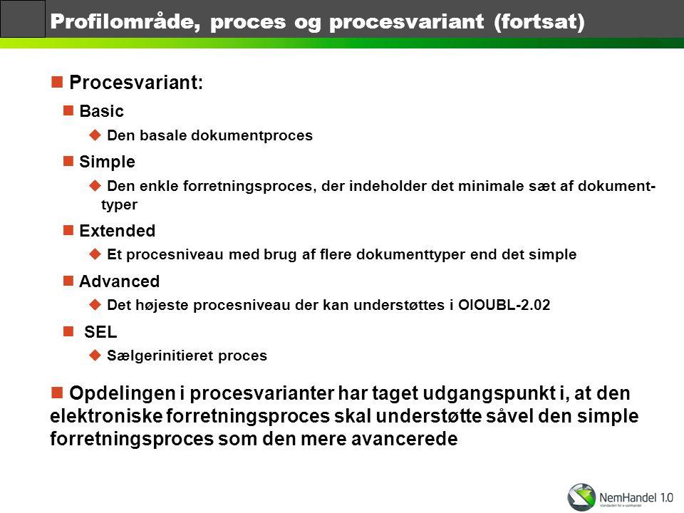 Profilområde, proces og procesvariant (fortsat)