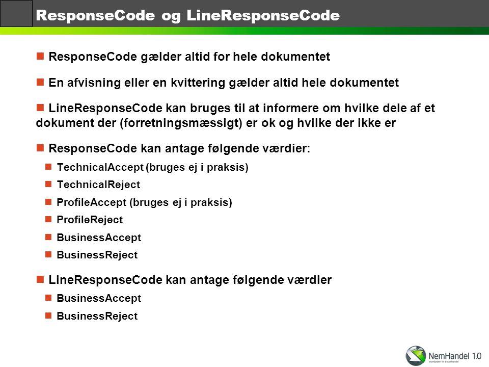 ResponseCode og LineResponseCode
