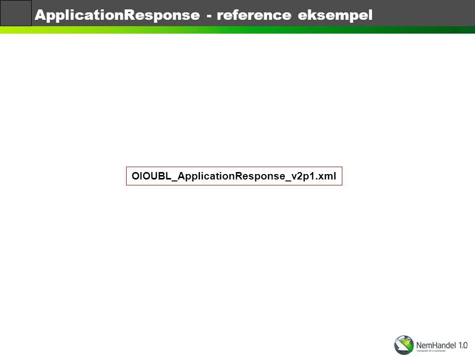 ApplicationResponse - reference eksempel