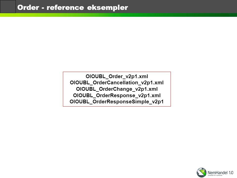 Order - reference eksempler
