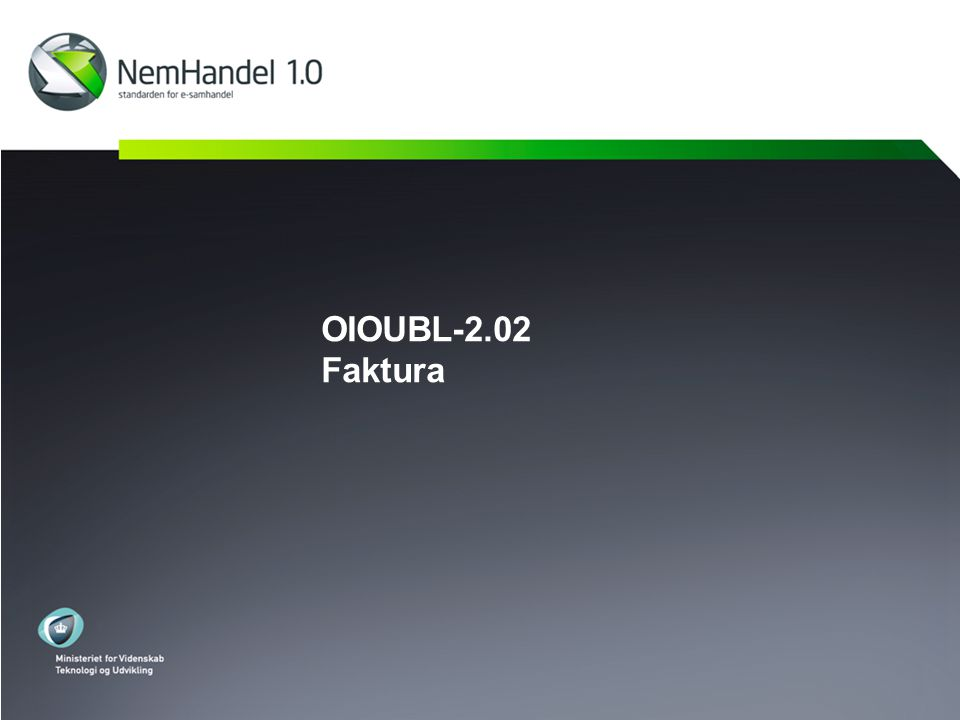 OIOUBL-2.02 Faktura