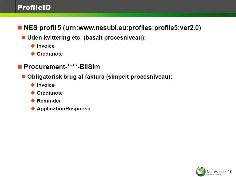 ProfileID NES profil 5 (urn:www.nesubl.eu:profiles:profile5:ver2.0)