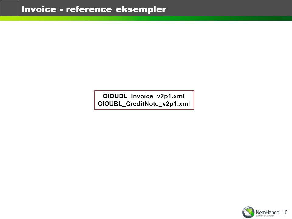 Invoice - reference eksempler