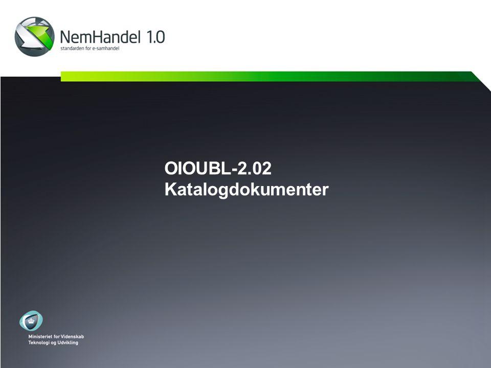 OIOUBL-2.02 Katalogdokumenter