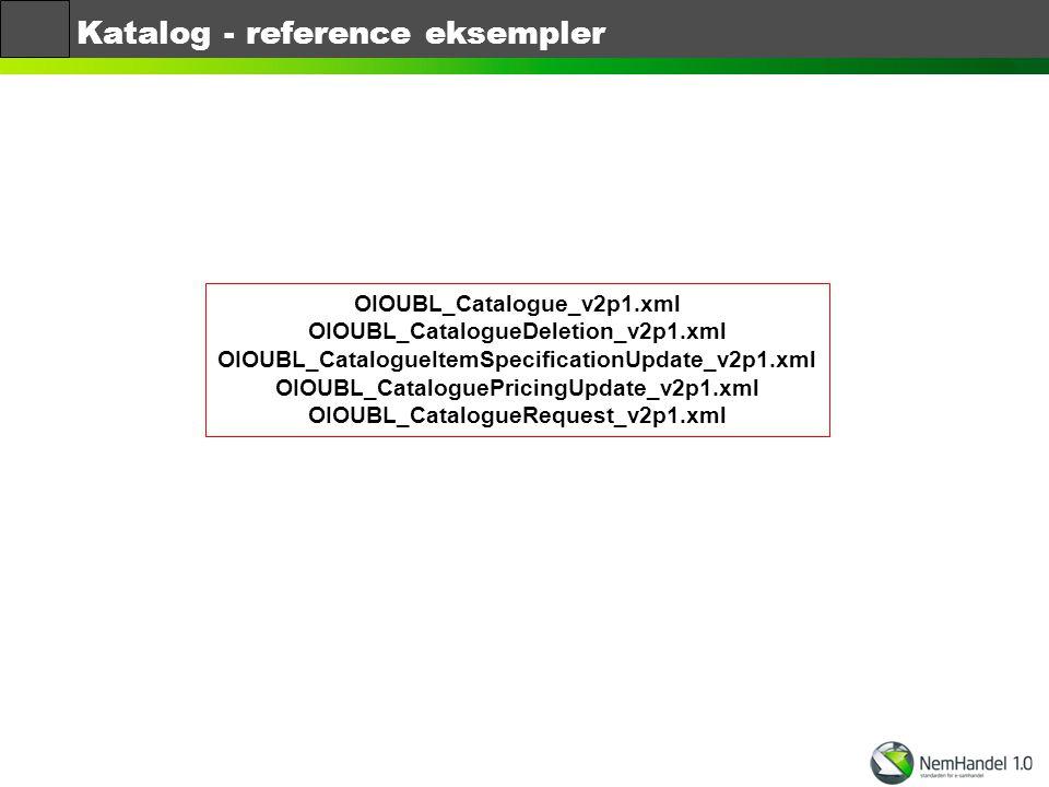 Katalog - reference eksempler