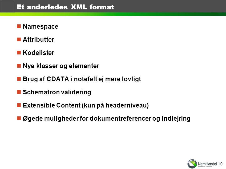 Et anderledes XML format