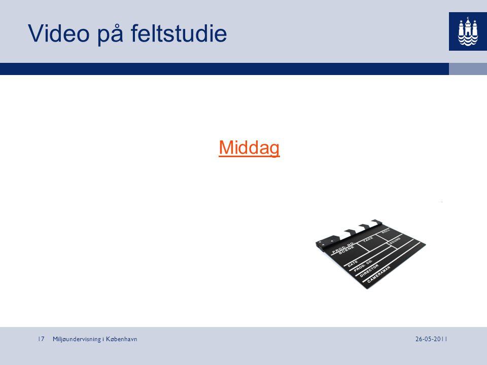 Video på feltstudie Middag Miljøundervisning i København 26-05-2011