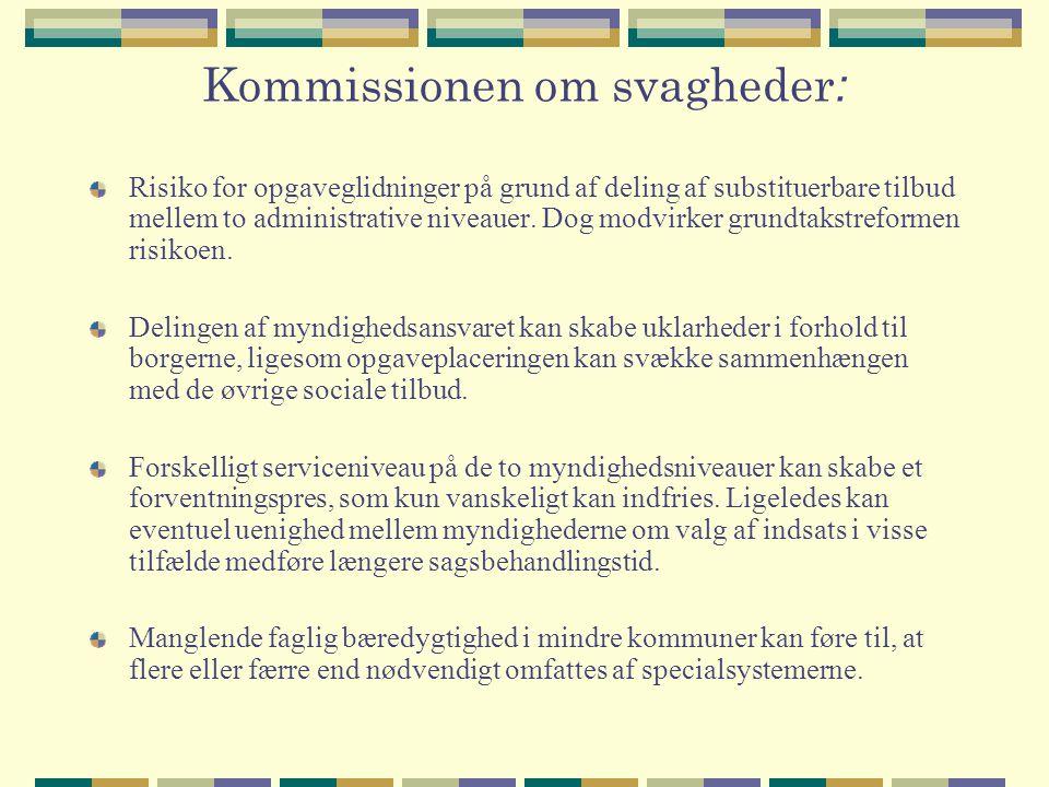 Kommissionen om svagheder: