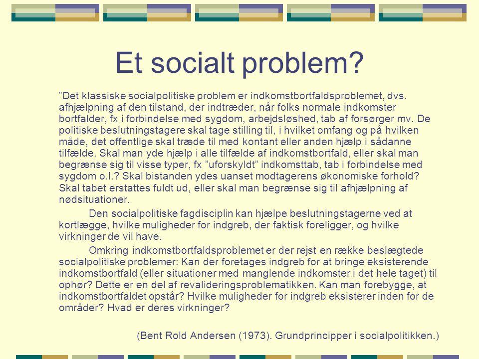 Et socialt problem