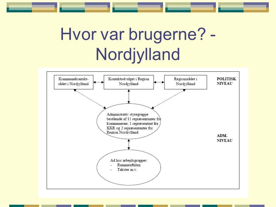Hvor var brugerne - Nordjylland