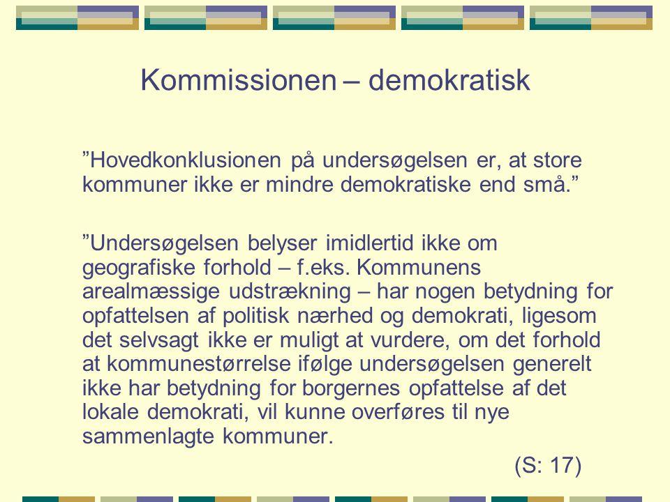Kommissionen – demokratisk