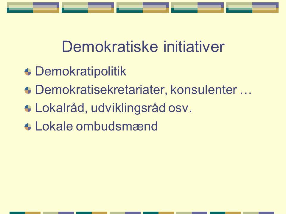 Demokratiske initiativer
