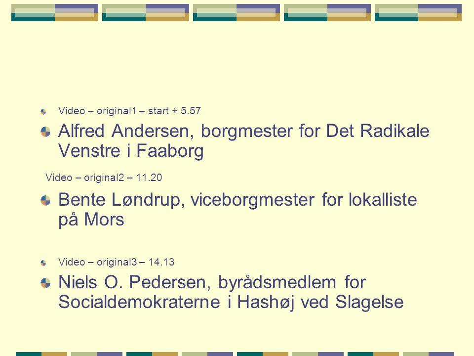Alfred Andersen, borgmester for Det Radikale Venstre i Faaborg