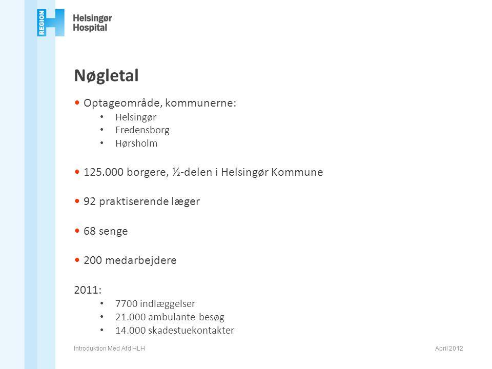 Nøgletal Optageområde, kommunerne: