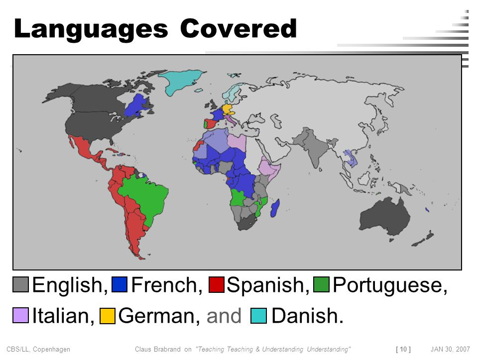 Languages Covered English, French, Spanish, Portuguese,