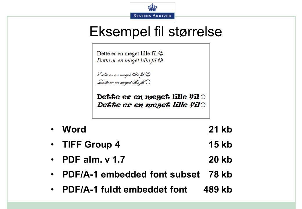 Eksempel fil størrelse