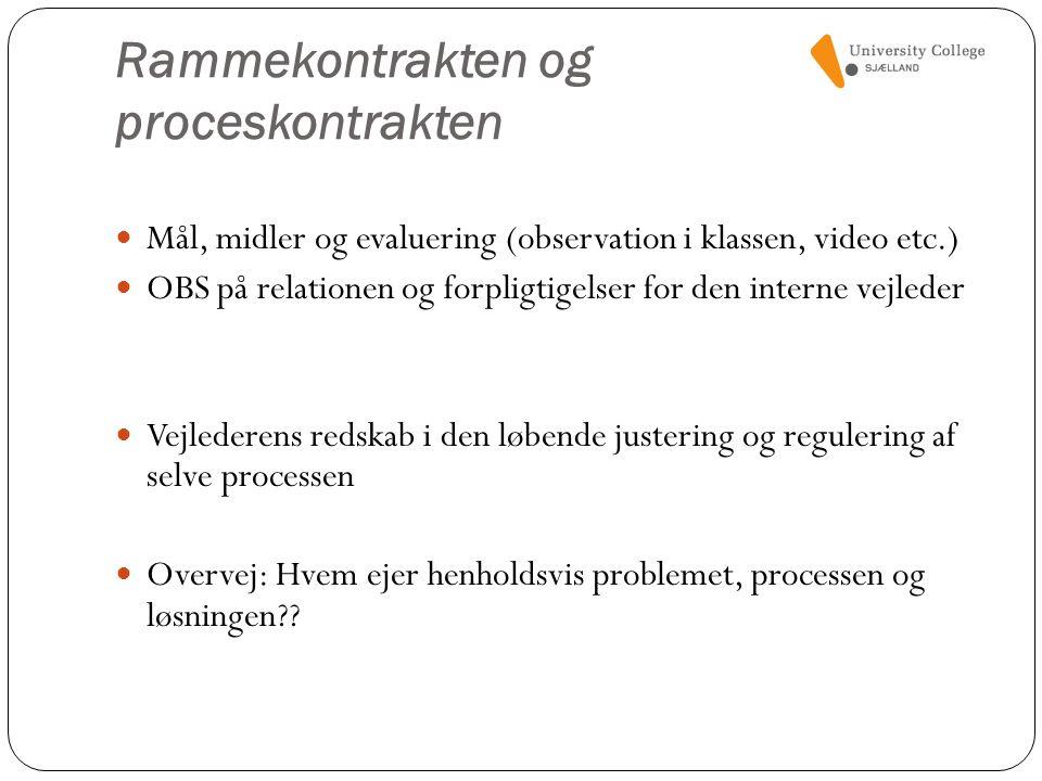 Rammekontrakten og proceskontrakten