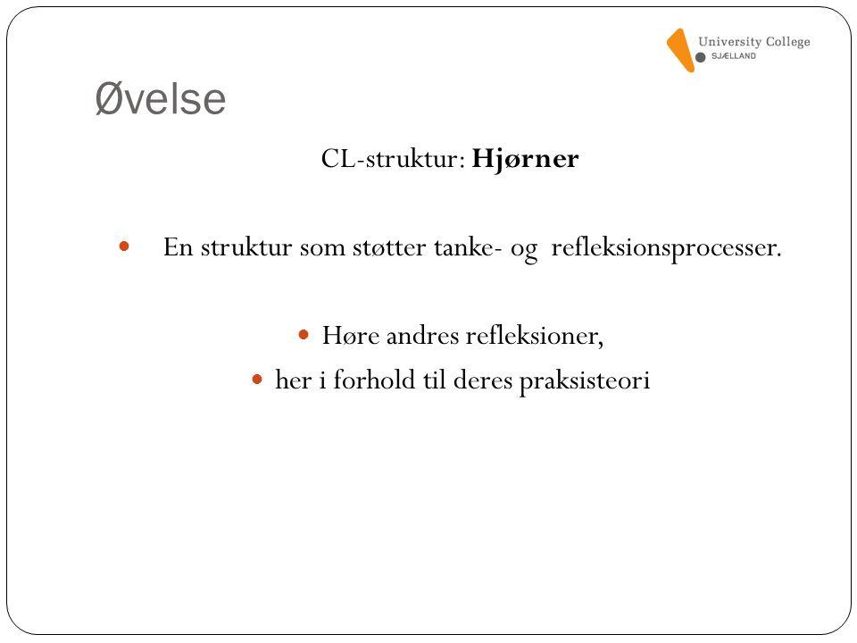 Øvelse CL-struktur: Hjørner