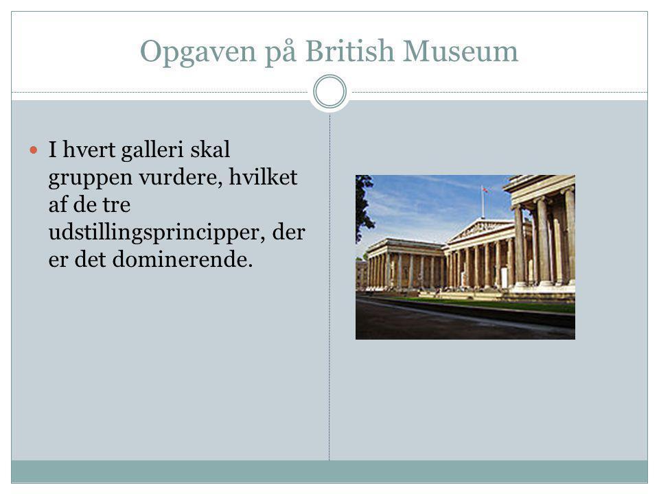 Opgaven på British Museum