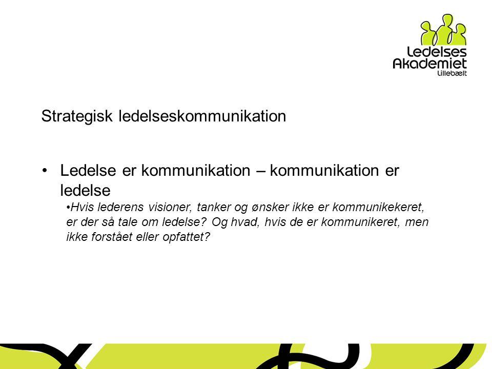 Strategisk ledelseskommunikation