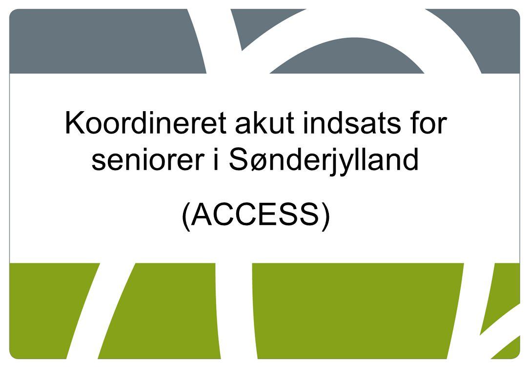 Koordineret akut indsats for seniorer i Sønderjylland