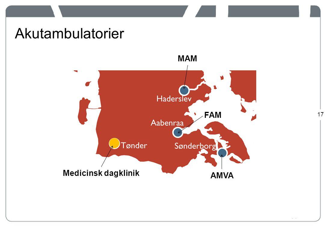 Akutambulatorier MAM FAM Medicinsk dagklinik AMVA