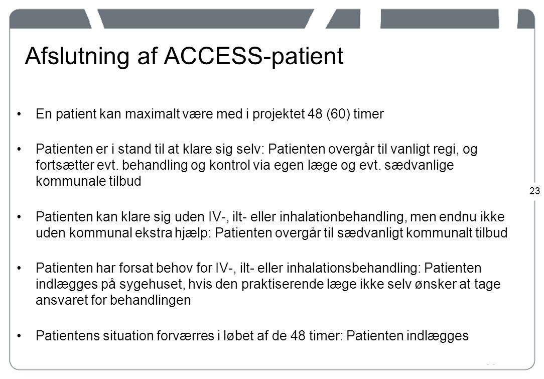 Afslutning af ACCESS-patient