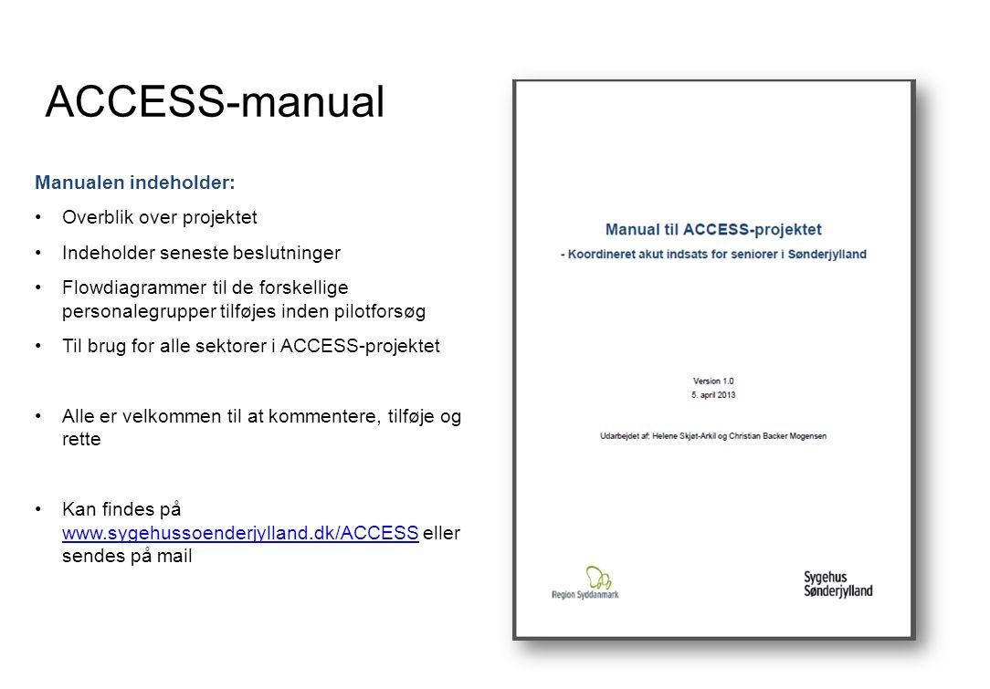 ACCESS-manual Manualen indeholder: Overblik over projektet