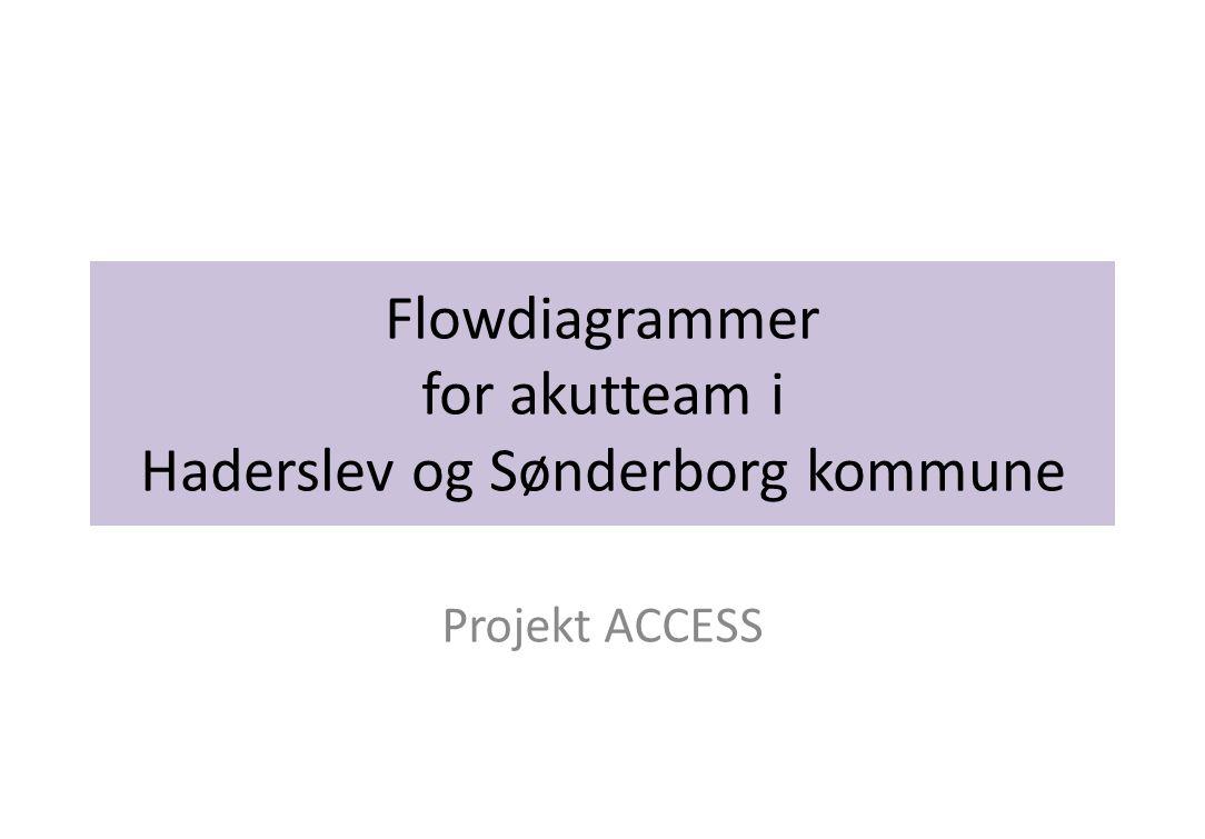 Flowdiagrammer for akutteam i Haderslev og Sønderborg kommune