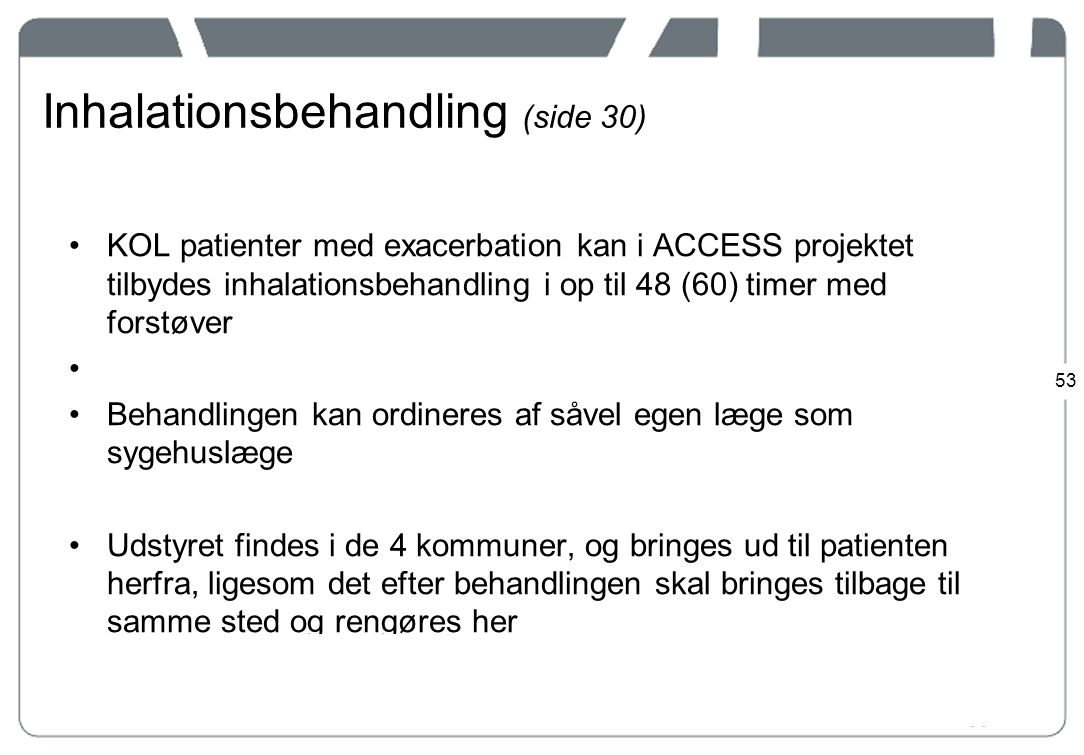 Inhalationsbehandling (side 30)