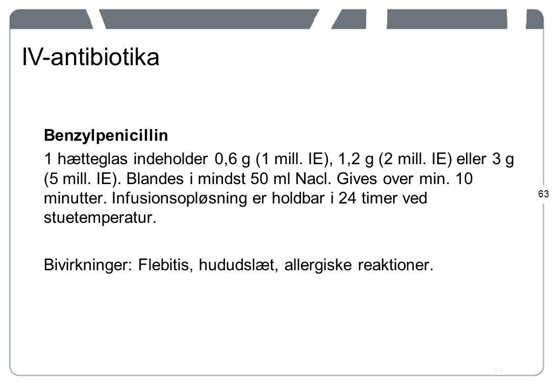 IV-antibiotika Benzylpenicillin