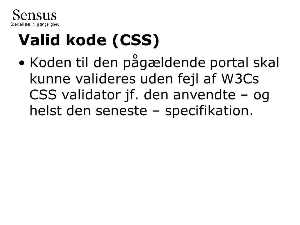 Valid kode (CSS)
